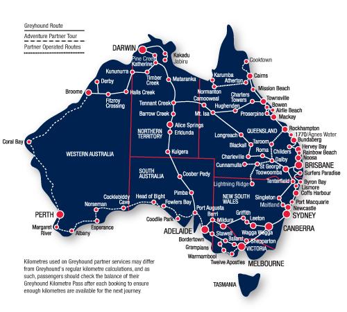Greyhound Network Map